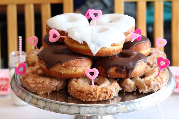 Valentine's Day Donut Party for Kids - Donut or Cupcake Picks