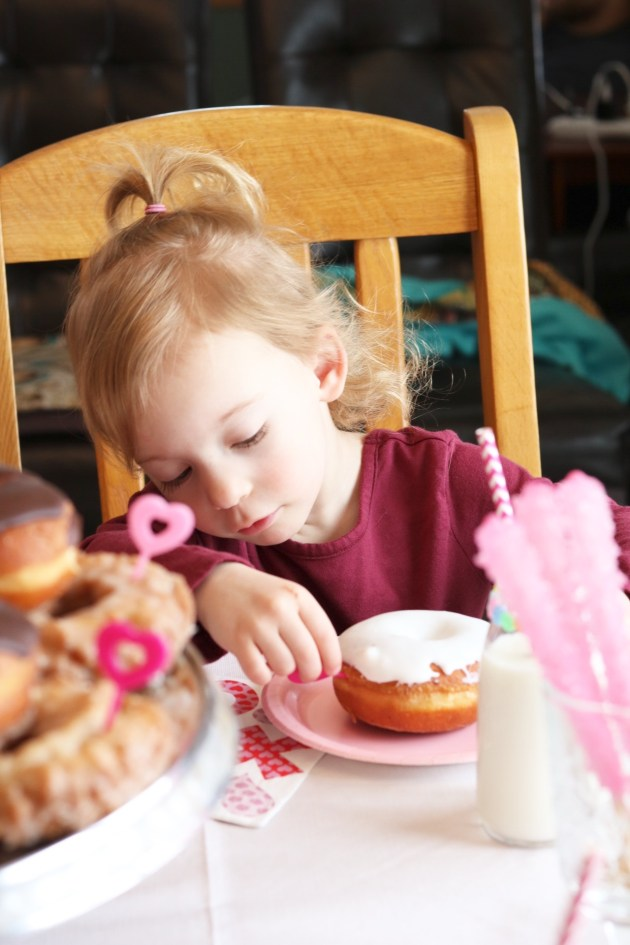 Valentine's Day Donut Party for Kids - Toddler Party