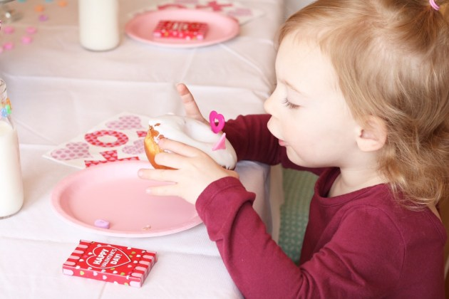 Valentine's Day Donut Party for Kids with Oriental Trading Company