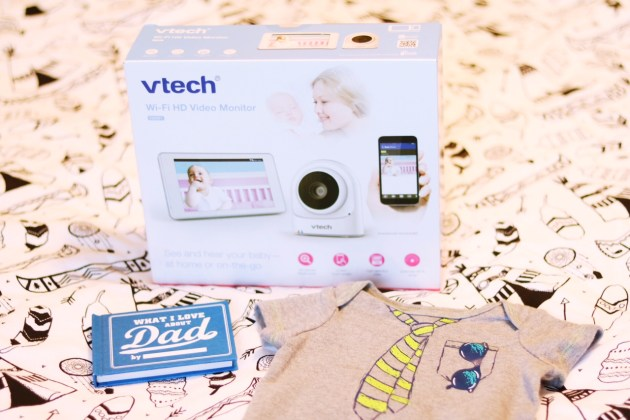 Expectant Dad Father's Day Gift - VTech VM981 Expandable HD Video Baby Monitor with Wi-Fi Camera and Touch Screen from Amazon