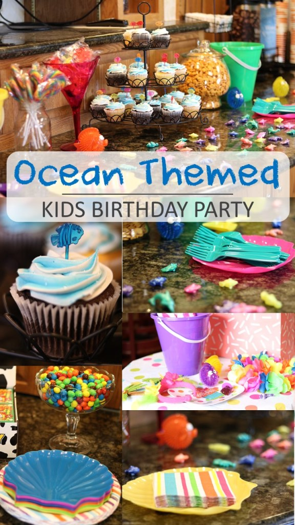 Ocean Themed Kids Birthday Party Ideas - Toddler Birthday Party - 3rd Birthday Ideas - Pool Party