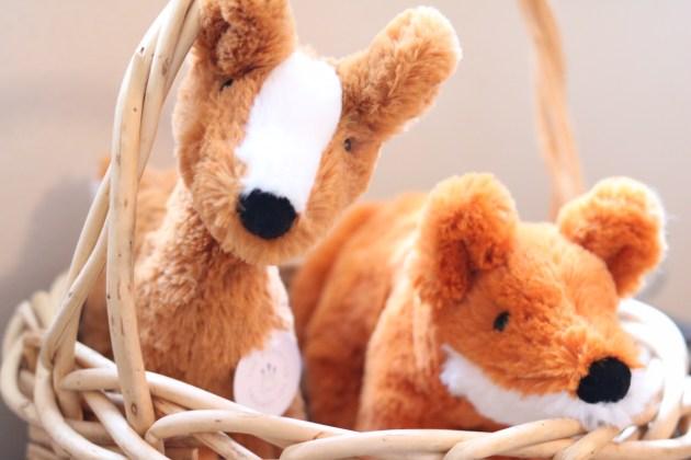 Modern Neutral Nursery Reveal - Woodland Stuffed Animals