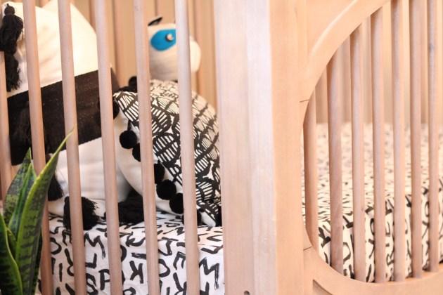 Modern Neutral Nursery Reveal - Milk Street Signature Toast Finish on Crib