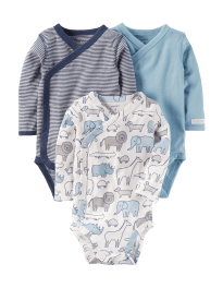 Carters Orginal Bodysuits - Side Snaps