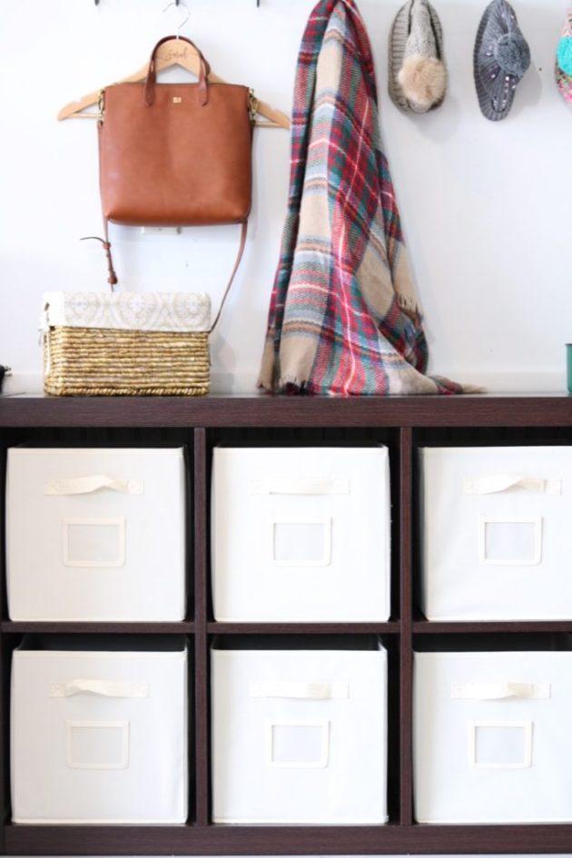 Garage Organization for Winter Gear | storage basket