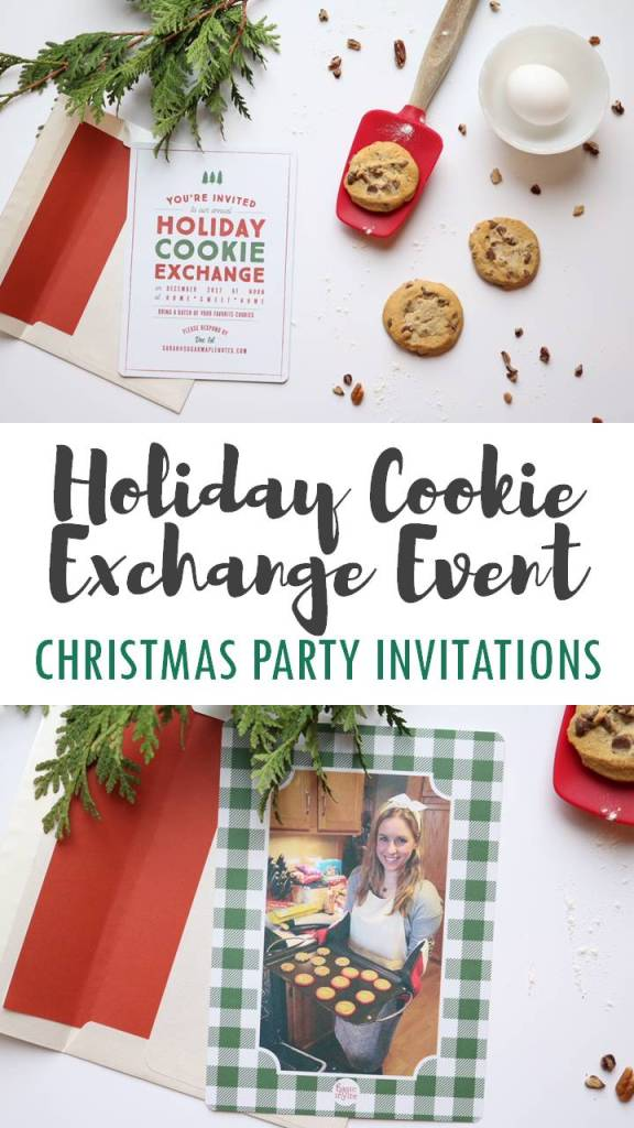 Holiday Cookie Exchange Event - Christmas Party Invitations with Basic Invite