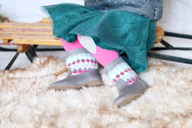 Holiday Traditions - THE BEST TIME TO BE A KID with Gymboree toddler girl gray boots