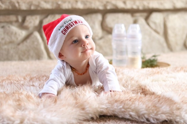 Celebrating Baby's First Christmas As A Nursing Mom + An Announcement - #ForBetterBeginnings #PlaytexMom Baby's first Christmas
