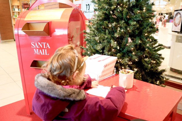 Last Minute Holiday Shopping at Hilldale - Writing A Letter To Santa