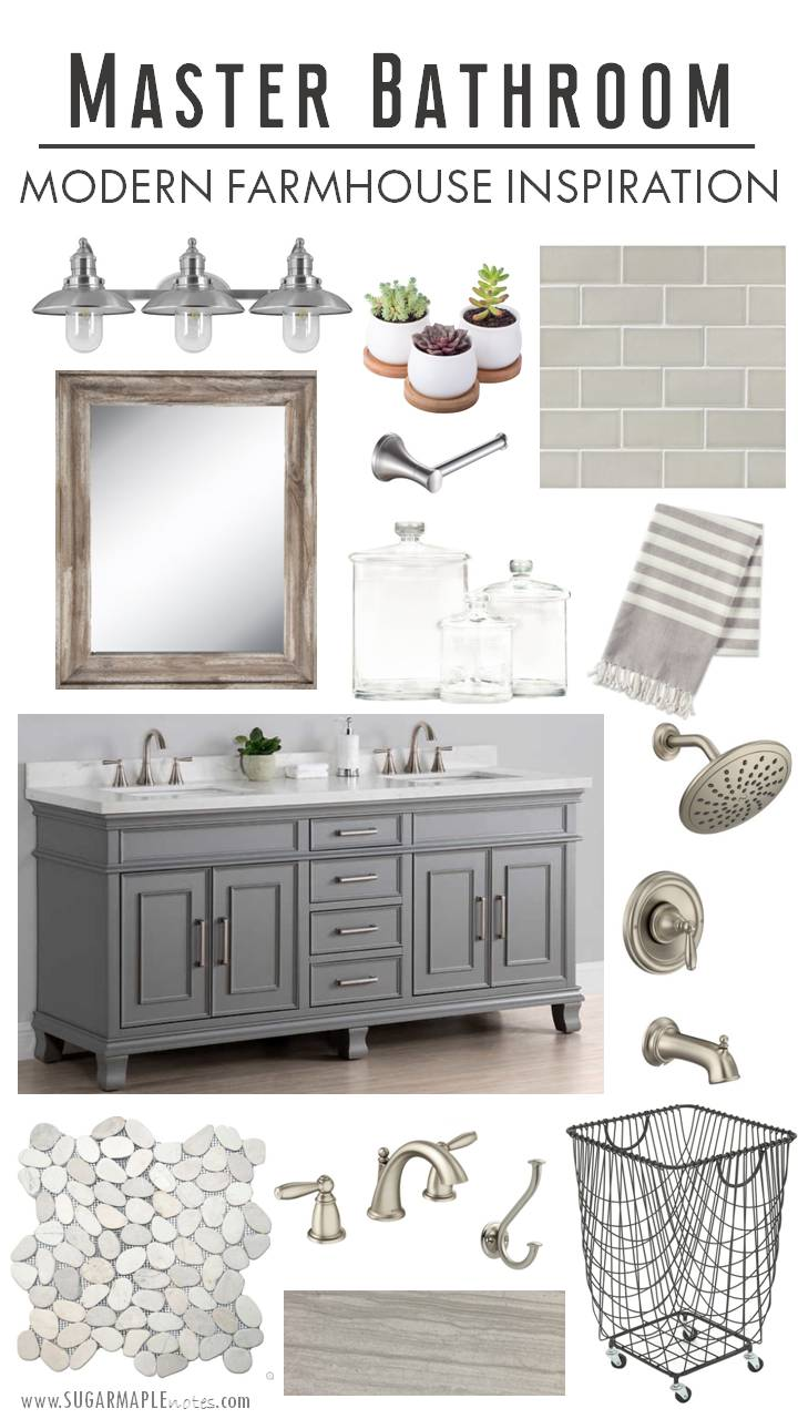 Modern Farmhouse Master Bathroom Inspiration Sugar Maple