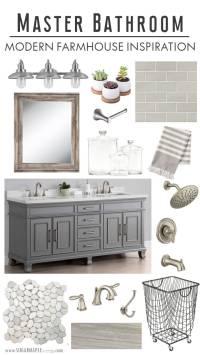 Modern Farmhouse Master Bathroom Inspiration - SUGAR MAPLE ...