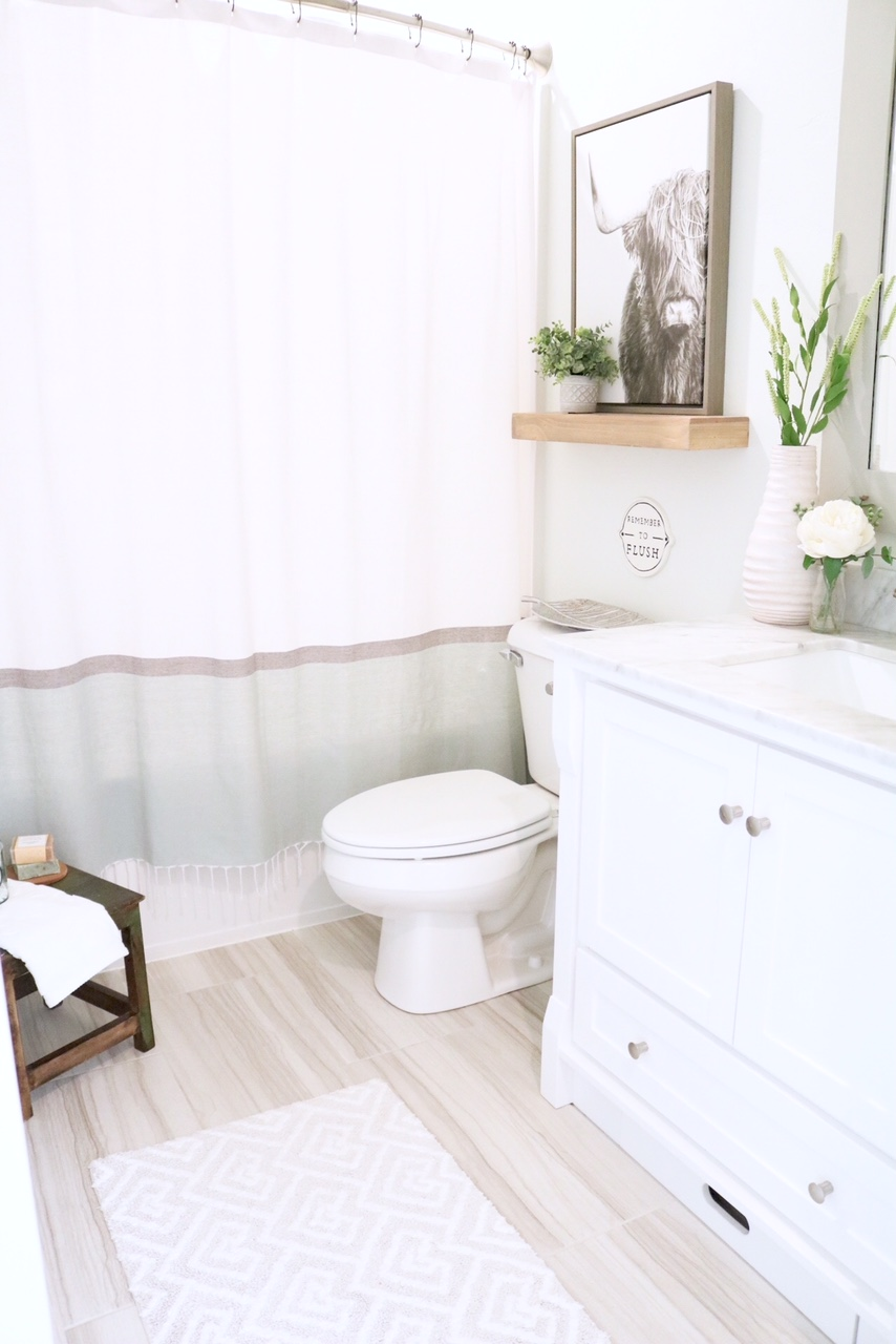 Modern Farmhouse Small Bathroom Reveal Sugar Maple Notes