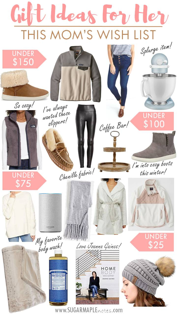 c2e4aa4e5 Gift Ideas For Her - My Wish List! - SUGAR MAPLE notes