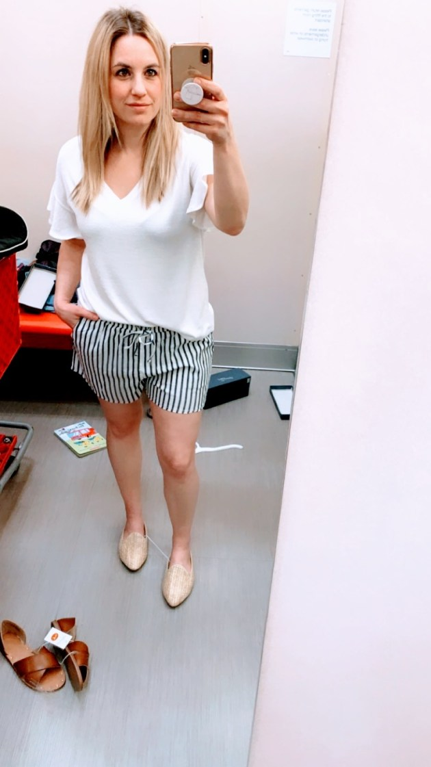 dac9b187f Spring Style Target Try-On 2019 Striped Tee  momstyle  fashion  targetstyle