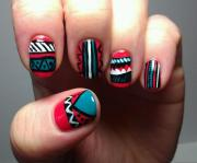 tribal nail art sugarmitten
