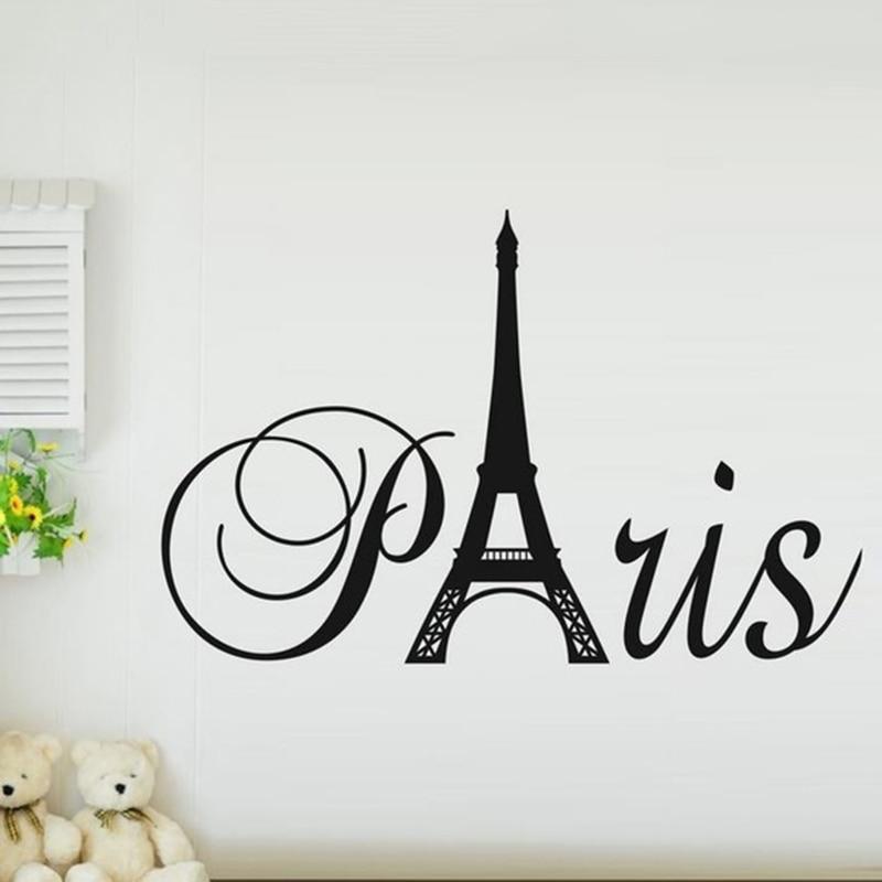 Paris Word Art Wall Sticker Sugarmundo Paris French Decor Shop