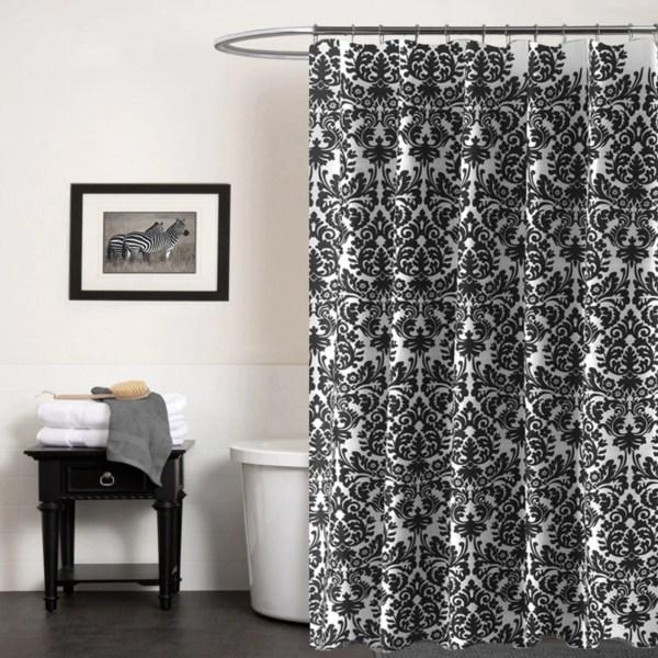 Darcelle Baroque Black And White Shower Curtain - Sugarmundo Paris French Decor