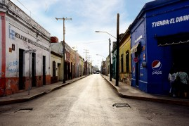 The temple street and the rest of Centro Merida looks like this