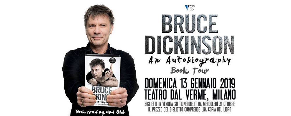 Brucke Dickinson reading Milano