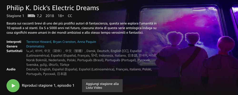 Philip K Dick s Electric Dreams la nuova serie di Amazon Prime Video