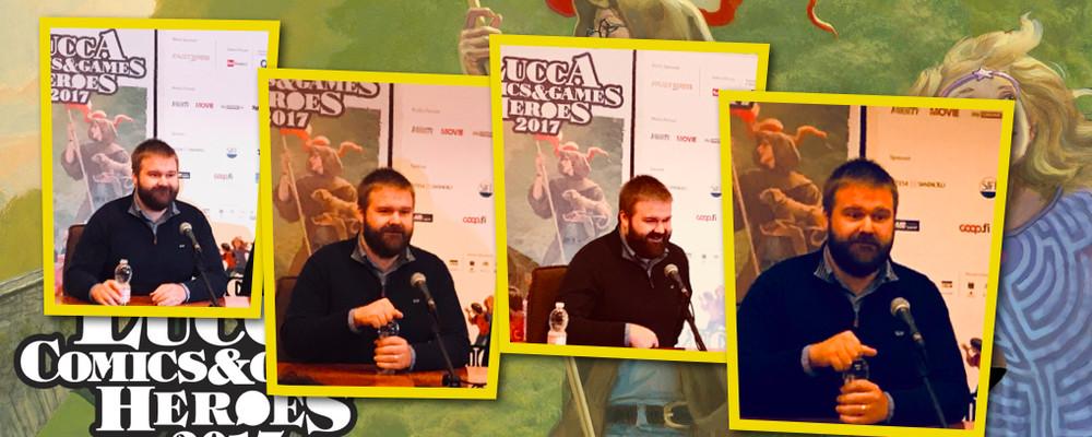 Robert Kirkman, la conferenza stampa a Lucca Comics & Games 2017