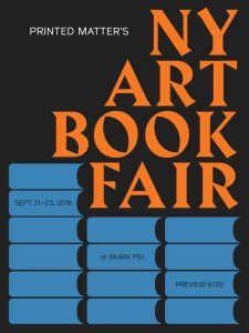 NY Art Book Fair 2018