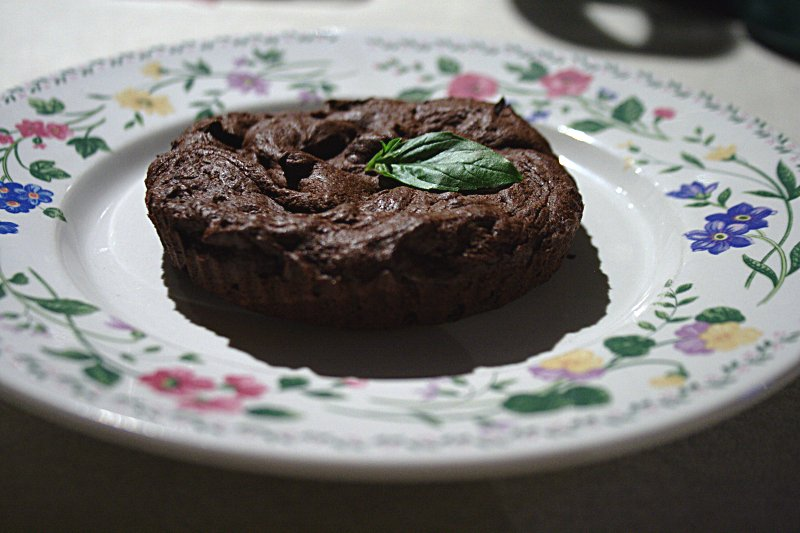 Chocolate Basil Tartelet