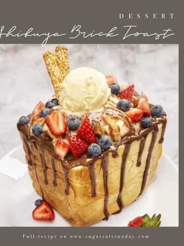 Shibuya Berry Brick Toast | Japanese Dessert