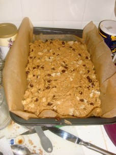 Dough in the pan