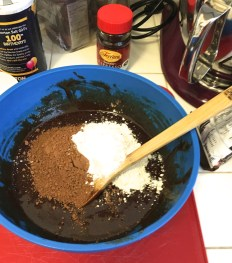Adding in the dry ingredients