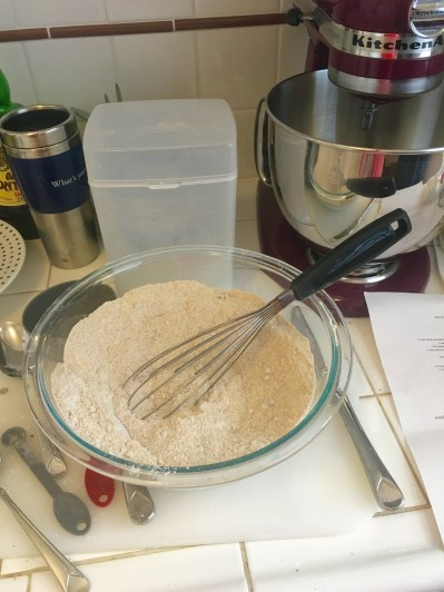 Mixing dry ingredients together