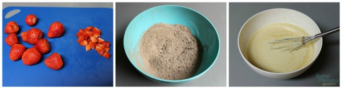 Chocolate Strawberry Muffins mixture