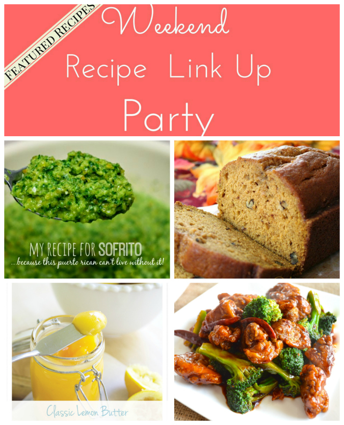 Weekend Recipe Link Up Party featured recipes 19