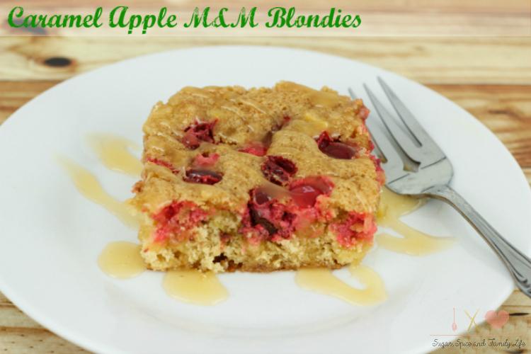 Caramel Apple M&M Blondies