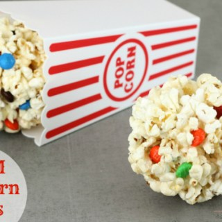 M&M Popcorn Ball