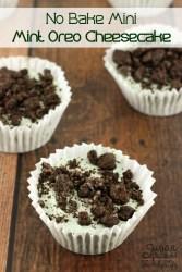 No Bake Mini Mint Oreo Cheesecake