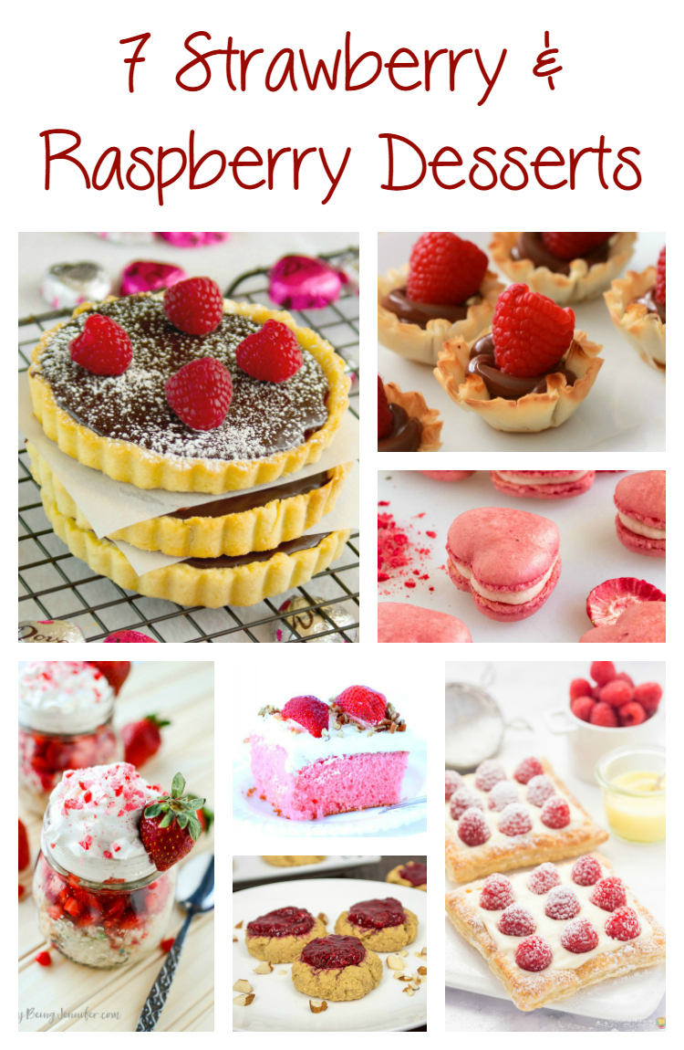 7 Strawberry and Raspberry Desserts