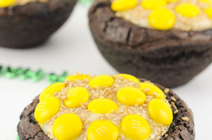 Pot of Gold Brownie Bowls