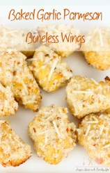 Baked Garlic Parmesan Boneless Wings Recipe