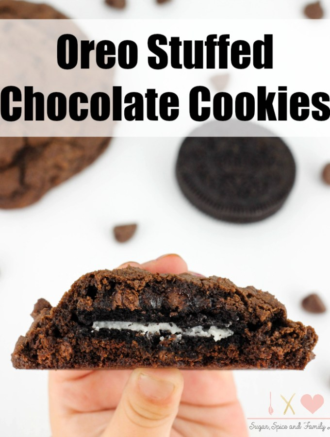 Oreo Stuffed Chocolate Cookies