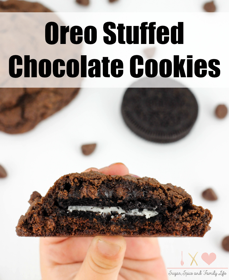 Oreo Stuffed Chocolate Cookies