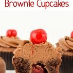 Cherry Cordial Brownie Cupcakes