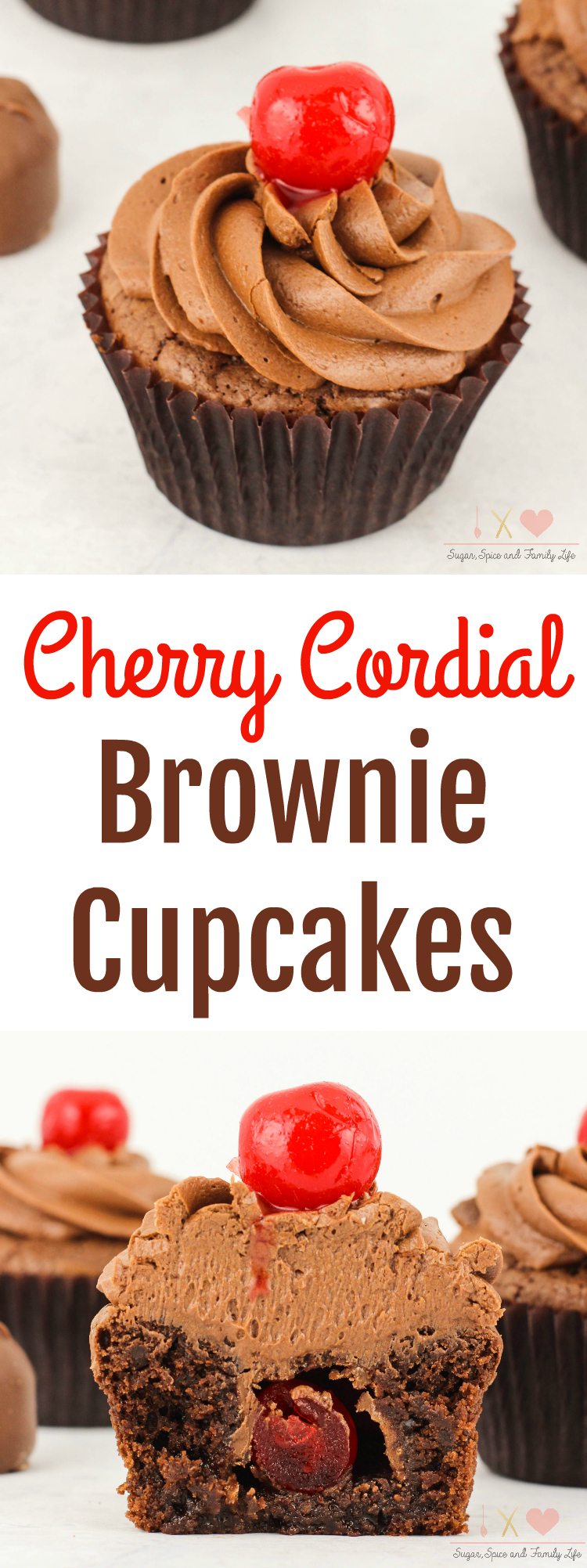 Cherry Cordial Brownie Cupcakes Recipe