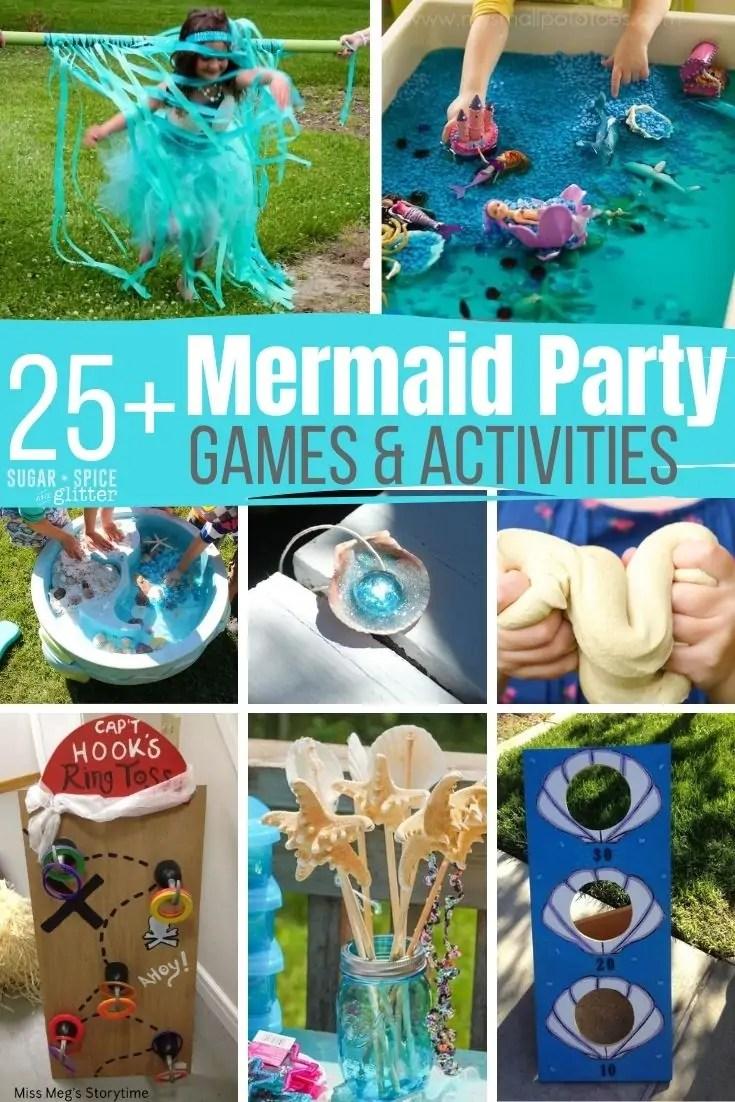 15 mermaid party games activities