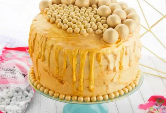 24k Gold Birthday Cake Sugar Spice And Glitter