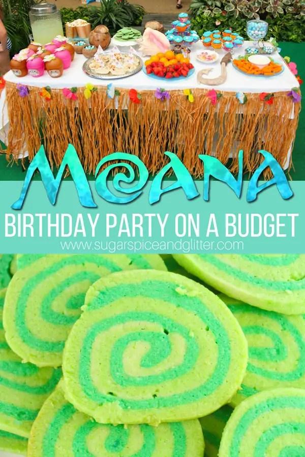 moana birthday party on