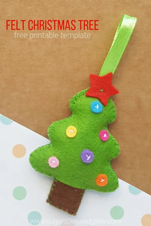 Sewing tutorial: Felt Christmas tree ornament