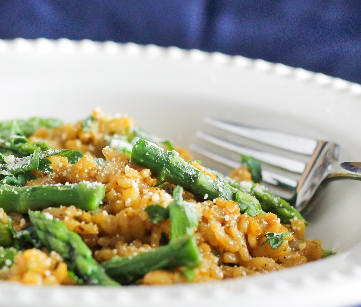 Lemon Chicken and Asparagus Risotto