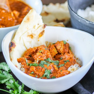 Chicken Tikka Masala. Can be made in slow cooker or Instant Pot, and can be made mild, medium or spicy. Easy, flavorful, and delicious.