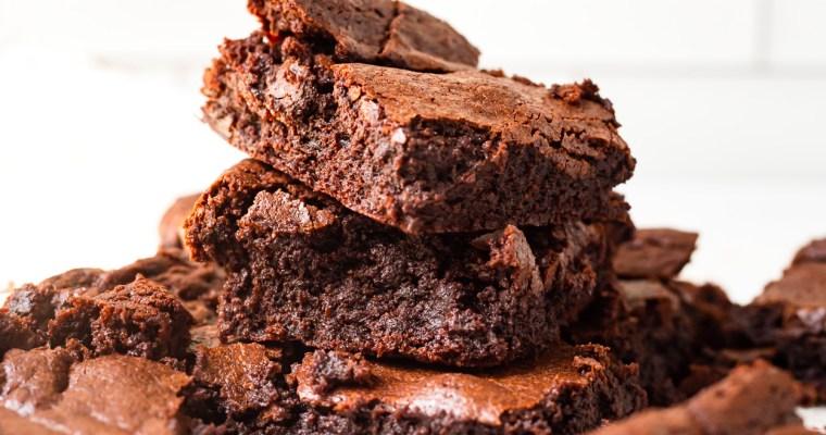 Crispy Top Fudgy Brownies